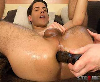 Sexy Patrik Nalup looks so good as he reclines on the bed feeling himself in his underwear. He reaches inside and grope his cock and balls. A helping hand a arrives and Patrik turns over onto his knees...