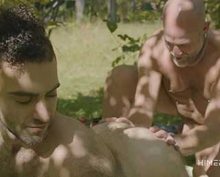 At Easton Mountain in upstate New York, a group of men gathered to explore their sex and sexuality through tantric workshops and erotic videos - many of which have been shared on Himerostv.