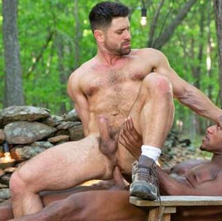 Andre Donovan was literally tied up, but he has escaped and catches Beau Butler peering into the house and spying on his investor friends. Andre grabs Beau and leads him to the woods to teach him a lesson.